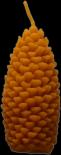 Svíčka smrková šiška malá váha 15g výška 5cm cena 8,-Kč
