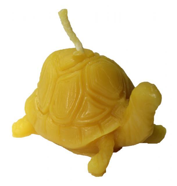 Svíčka želva váha 50 g výška 4 cm cena 25,-Kč